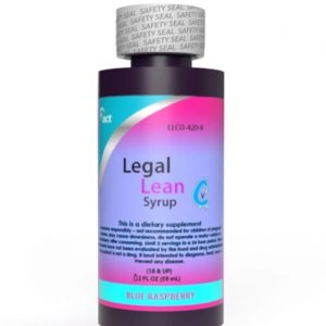 Legal Lean Blue Raspberry Syrop