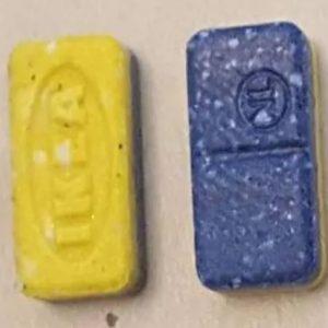 Blue & Yellow IKEA 220mg MDMA Pills
