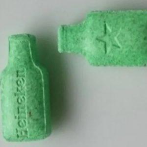 Green Heineken Bottles 230mg MDMA